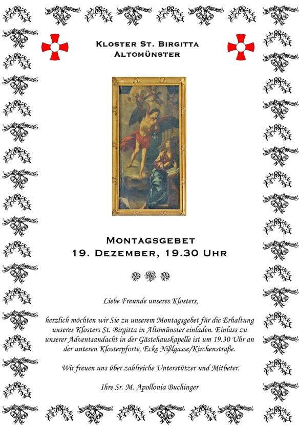 Adventsandacht am 19. Dezember