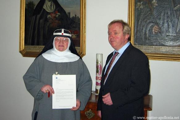 MdEP Arne Gericke bei seinem Besuch im Kloster St. Birgitta in Altomünster am 11. November.